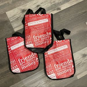 Lululemon Red and Black Reusable Bags